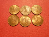 Lot of 6 British Borneo 1962 One Cent