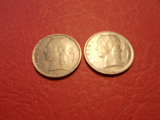 Lot of 2, Belgi, 1FR, 1952 and 1958