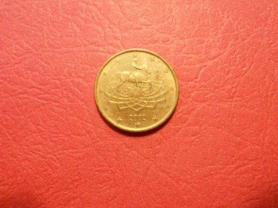 2002 Italy 50 Euro Cent