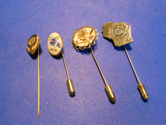 Lot of 4, Vintage Stick Pins