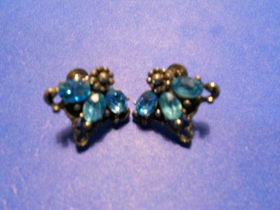 Vintage Coro Rhinestone Earring Set