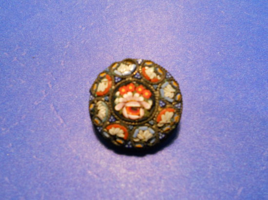 Vintage Mosaic Tile Brooch, Italy