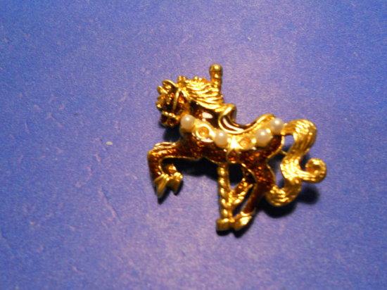 Vintage Carousel Horse Brooch