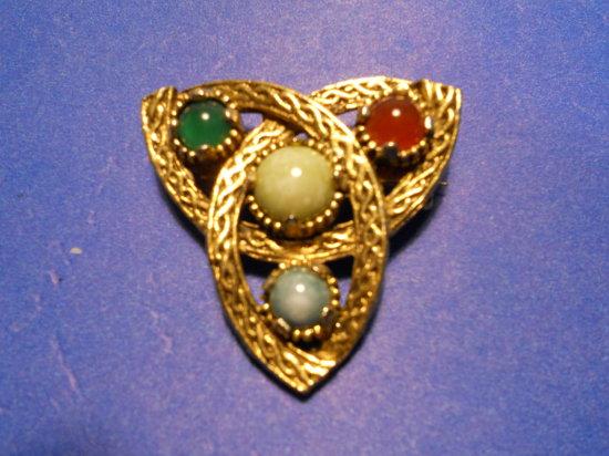 Vintage Gemstone Brooch, Jacobite