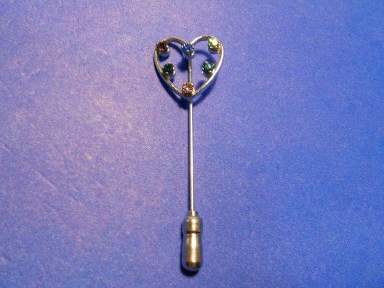 Anson Sterling Rhinestone Stick Pin