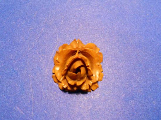 Vintage Bakelite Carved Flower Pendent