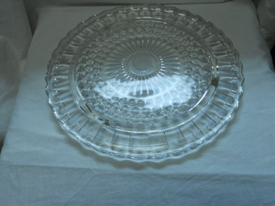 Vintage Clear Glass Cake Plate