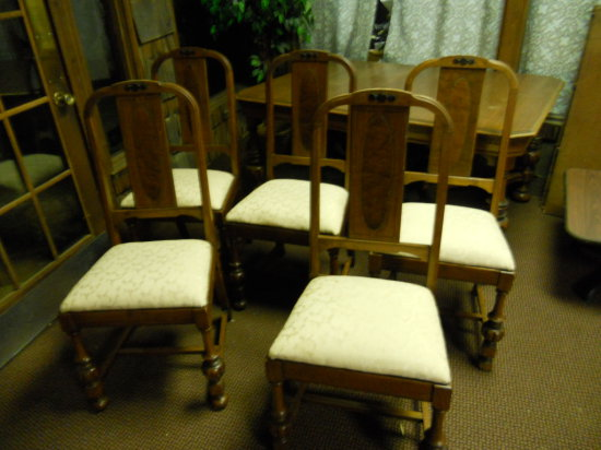 Wood Chairs, Arched Back, Padded Seat