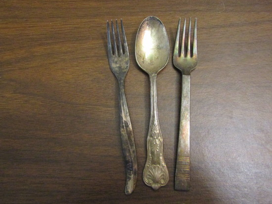 Vintage Lot of 3 International Silver Co. Forks and Spoon