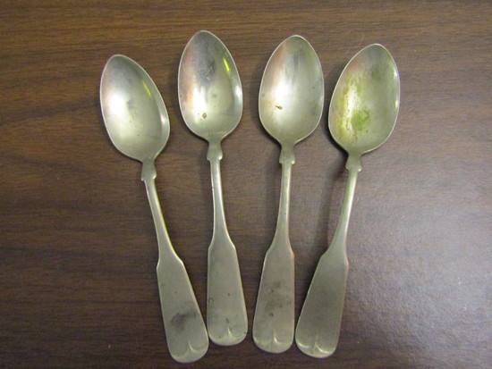 Vintage Lot of 4 Spoons marked CCS&Co. Silver Metal