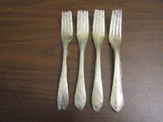 Vintage Lot of 4 Reed & Barton Forks