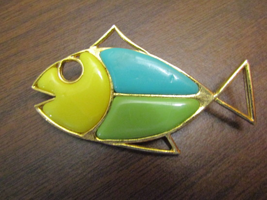 Vintage Fish Brooch