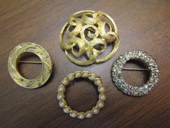 Lot of 4 Vintage Brooches
