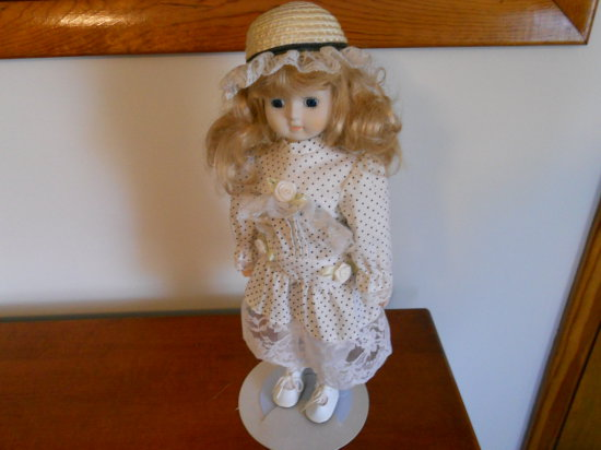 Vintage Doll with Stand