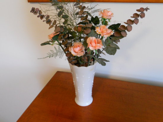 Vintage Glass Vase with Flower arrangement