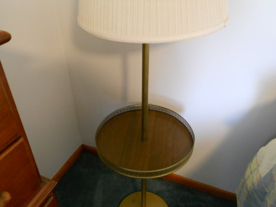 Vintage Floor Lamp with shelf attached