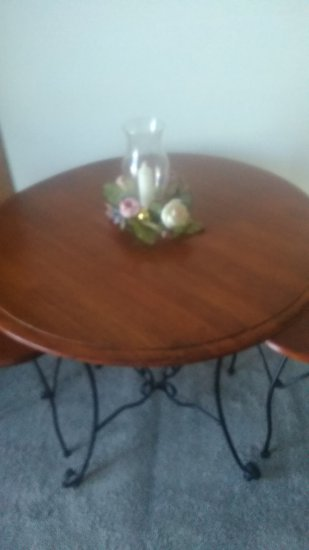 Vintage Set  Round Table with 2 Chairs