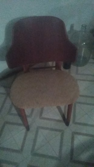 Vintage Wood, upholstered Chair