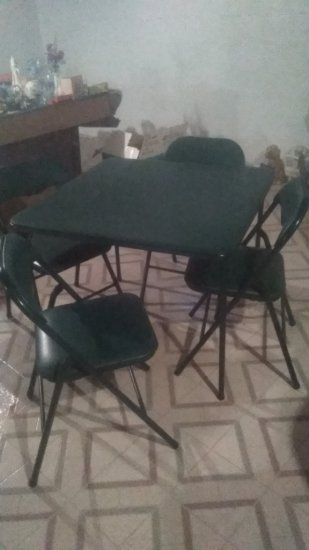Set Card Table and 4 Chairs