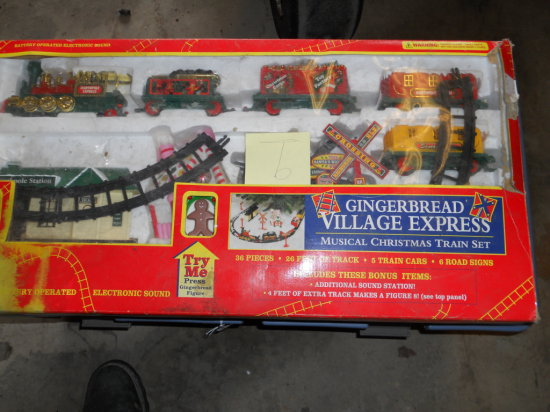 Gingerbread Village Express Train Set