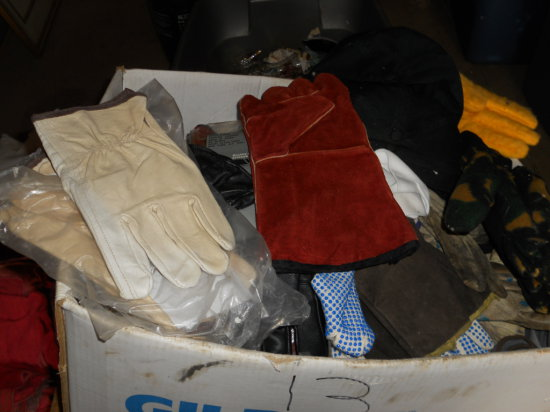 Large Box of Gloves, new and used
