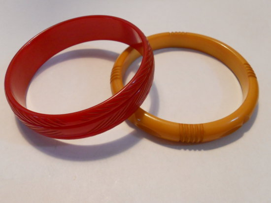 Lot of 2, Vintage Bakelite Bracelets
