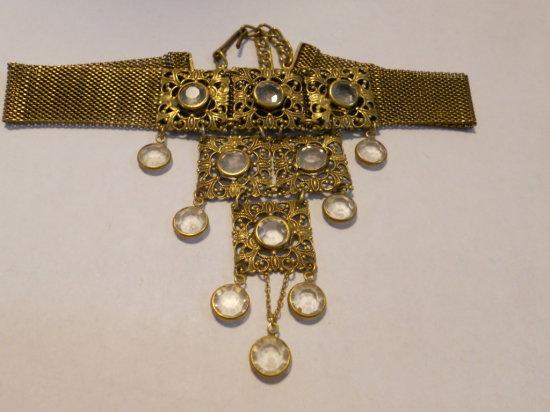 Vintage Choker Necklace, Dangle