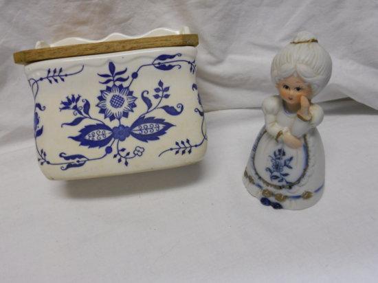 Antique Salt Holder and Bell