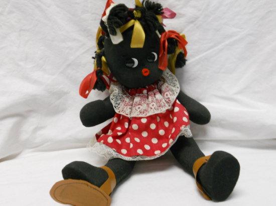 Black Americana Folk Art Doll