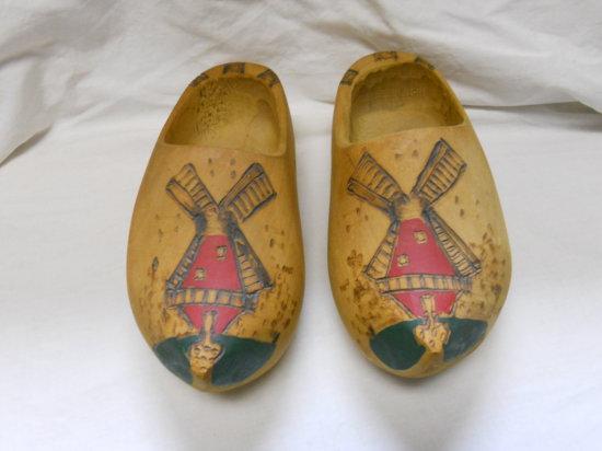 Vintage Wooden Dutch Shoes