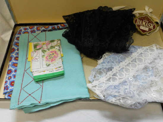 Anitque/Vintage Vanity Linens and Scarfs