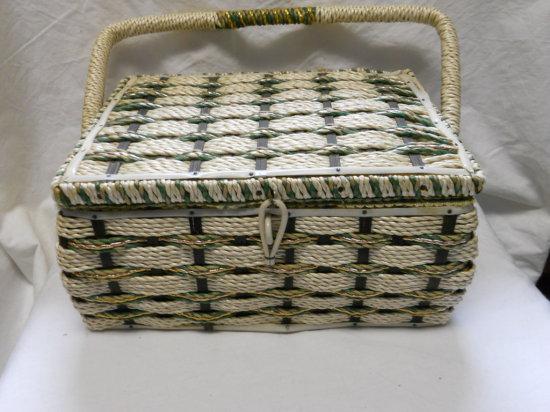 Vintage Musical Sewing Basket