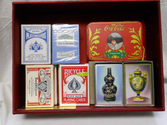 Lot of Vintage Playing Cards, Coke