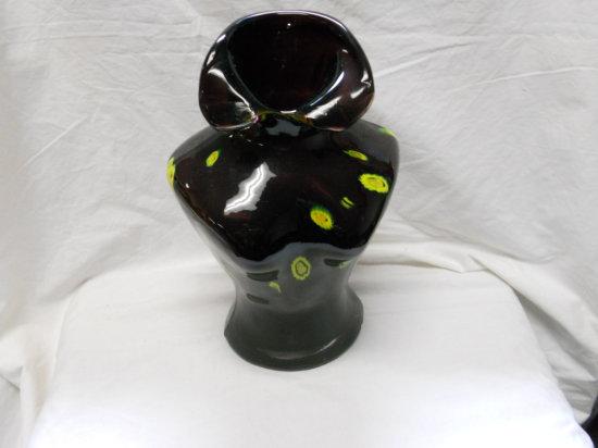 Glass Art Bust Vase