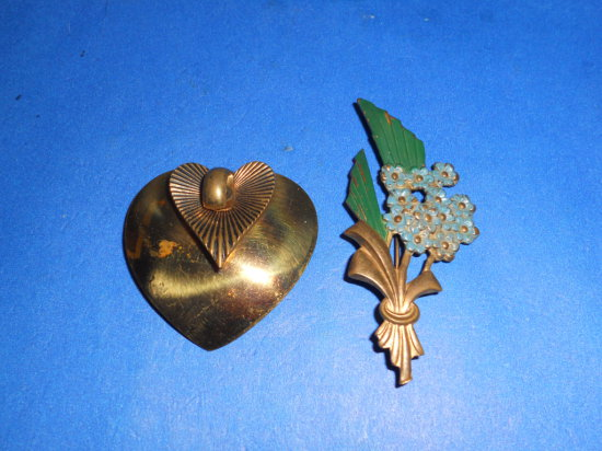 Vintage Lot of 2 Brooches