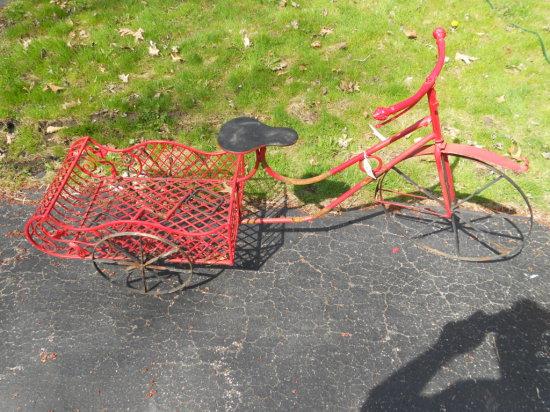 Antique/Vintage 3 Wheel Bicycle Plant Holder, Garden Décor