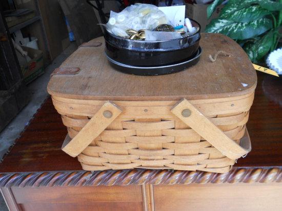 Vintage Longaberger Basket with Lid