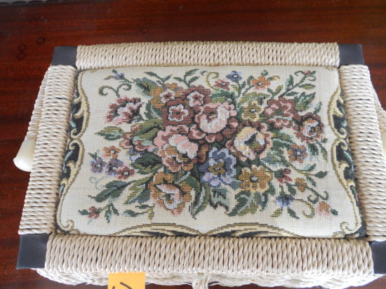 Vintage Sewing Basket with Contents