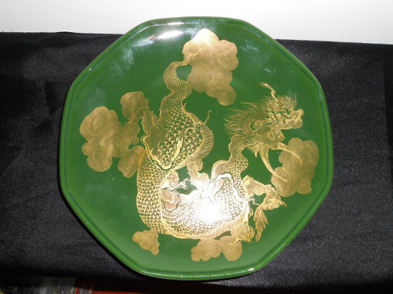 Vintage Shenango China Plate, Dragon