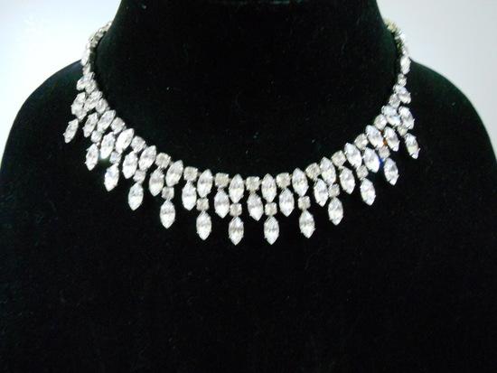 Vintage Weiss Rhinestone Necklace