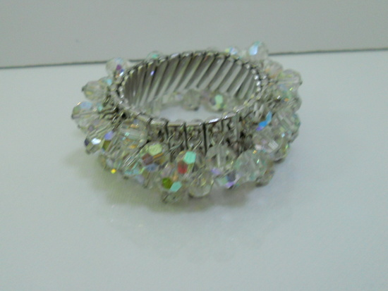 Vintage Rhinestone Beaded Bracelet