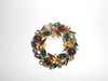 Vintage Multi color Rhinestone Brooch