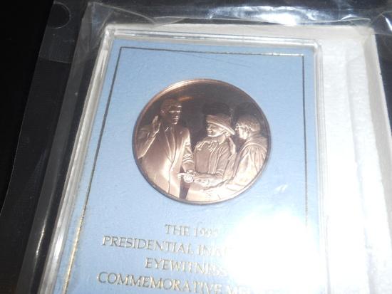1993 Presidential Inaugural Eyewitness Commemorative Coin