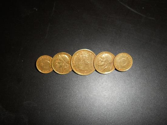 5 Coin Brooch