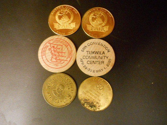 Lot of 6 Washington State Collectible Coins