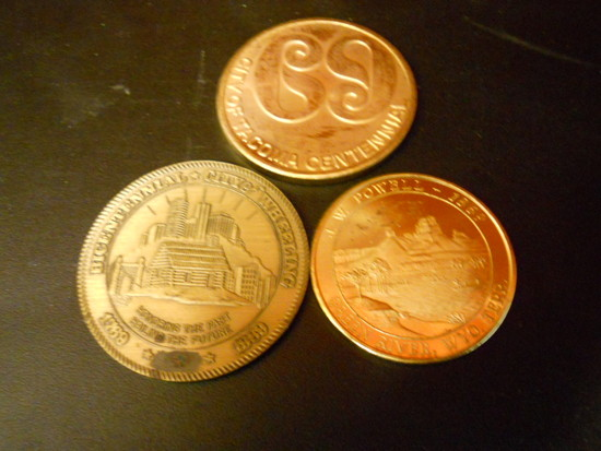Lot of 3 Commemorative Coins