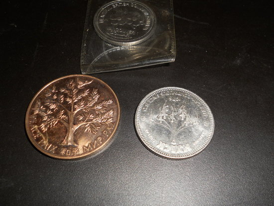 Lot of 3 Coins, 1975, 1976