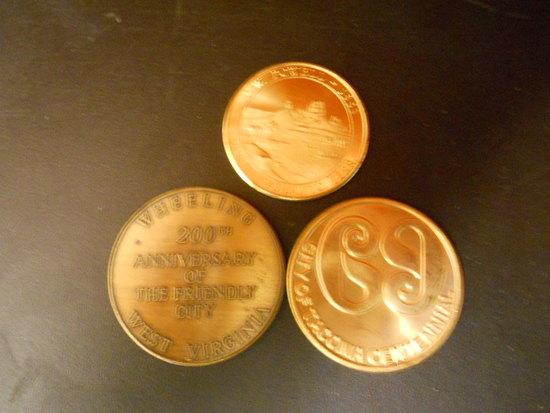 Lot of 3 Commemoratve Coins