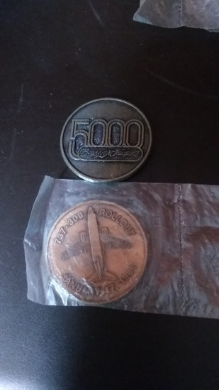 Lot of 2 Boeing Coins