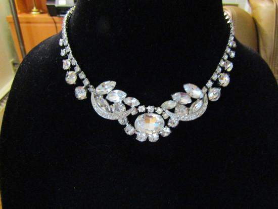 Vintage Highend Glass Rhinestone Nacklace